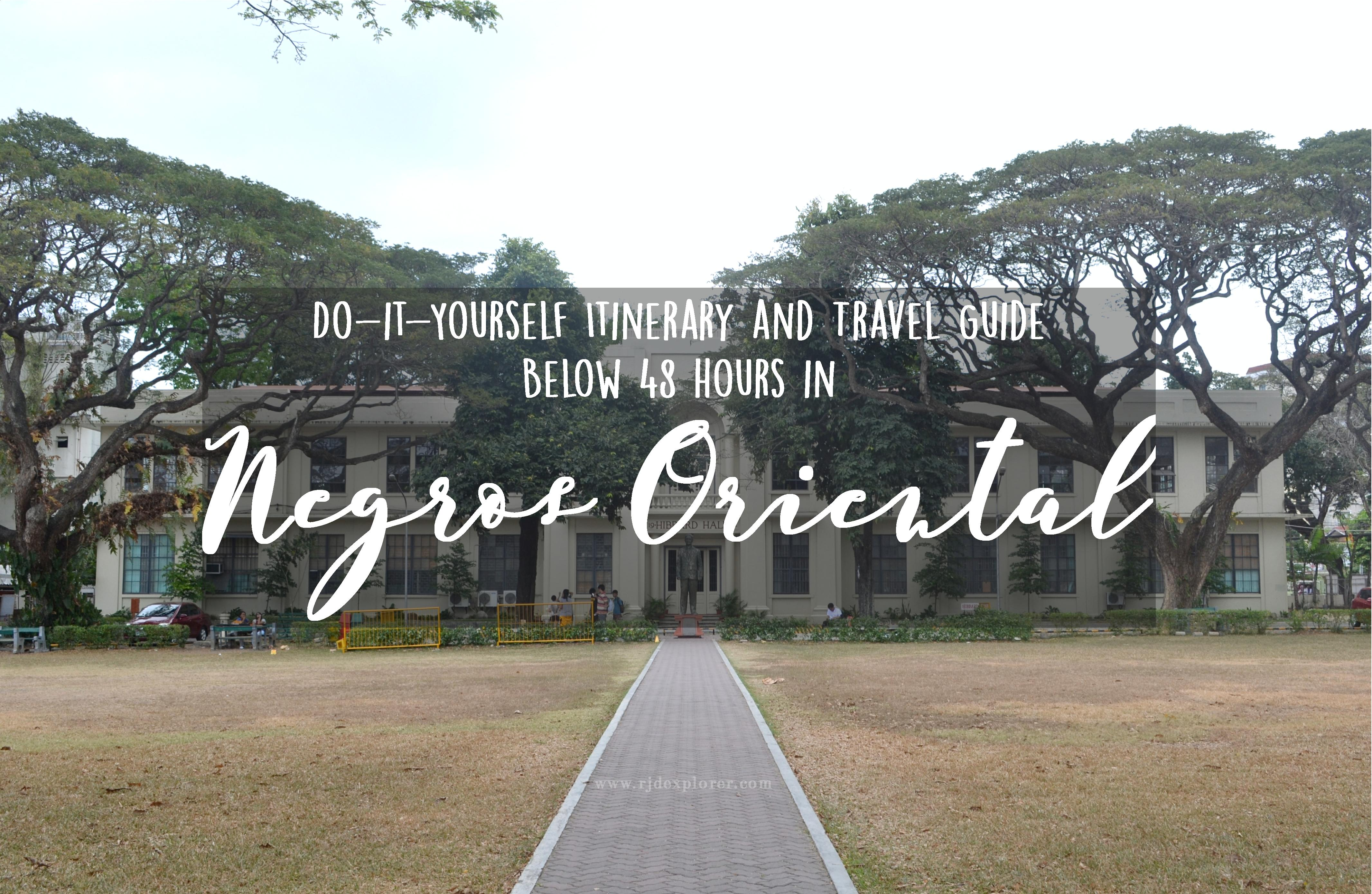 dumaguete itinerary