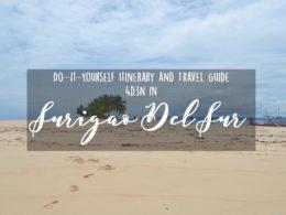 surigao del sur itinerary