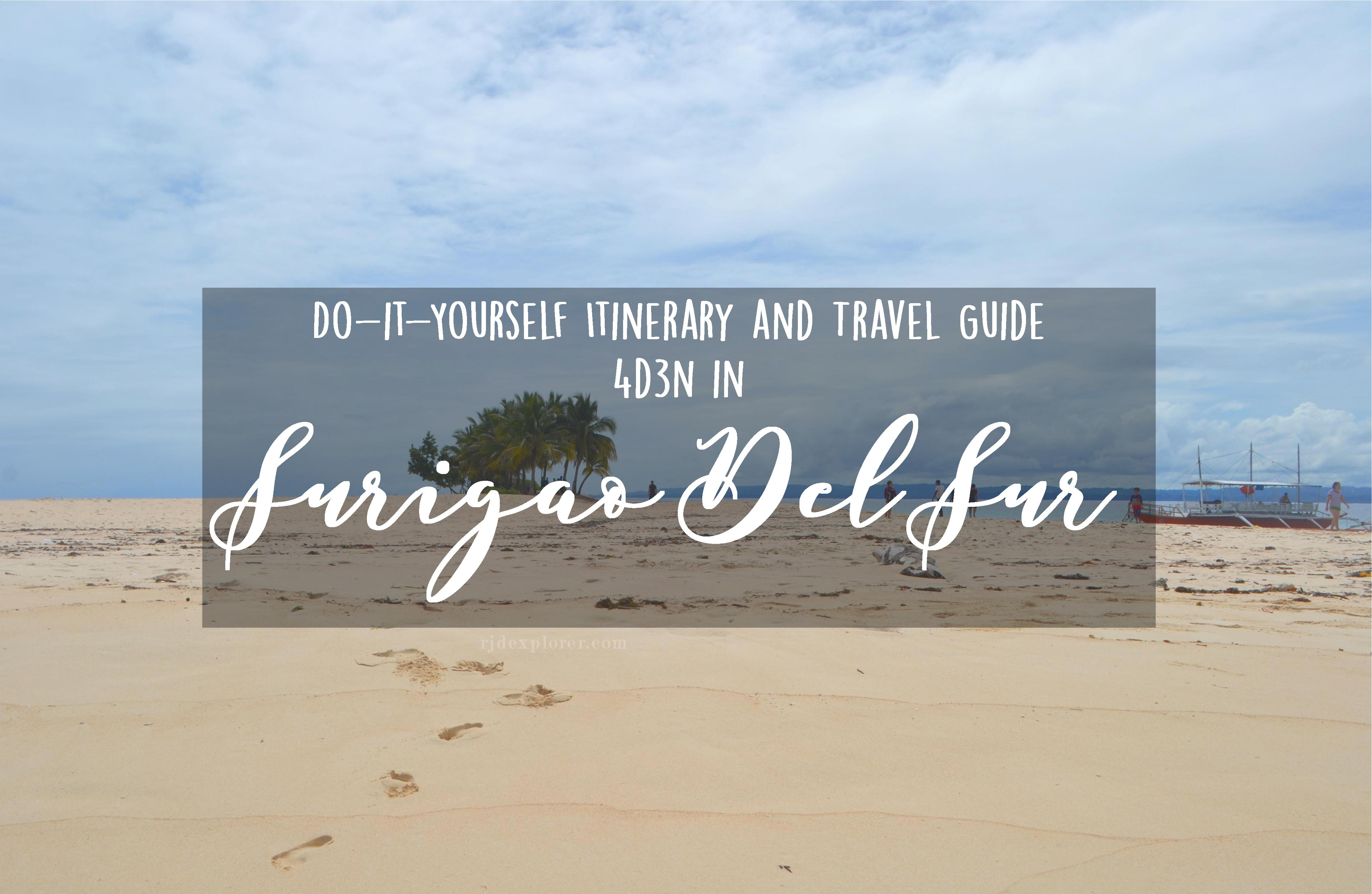 Diy Itinerary And Travel Guide 4d3n Surigao Del Sur