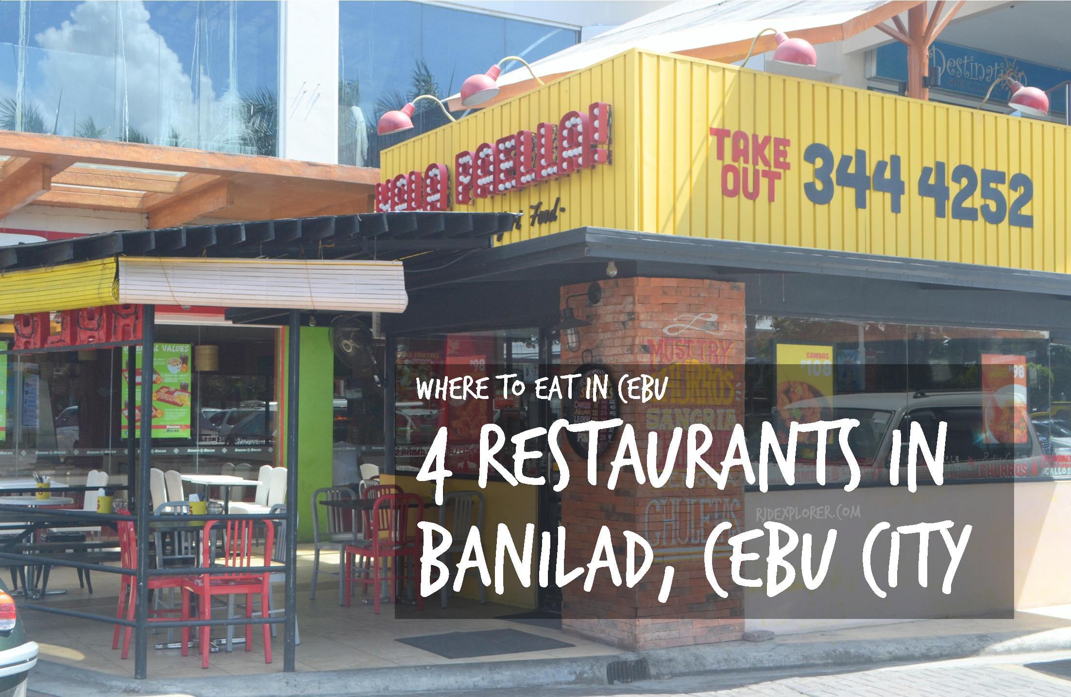 Where To Eat In Cebu 4 Restaurants In Banilad Cebu City Iwander Iexperience Ikwento