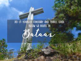 bataan itinerary