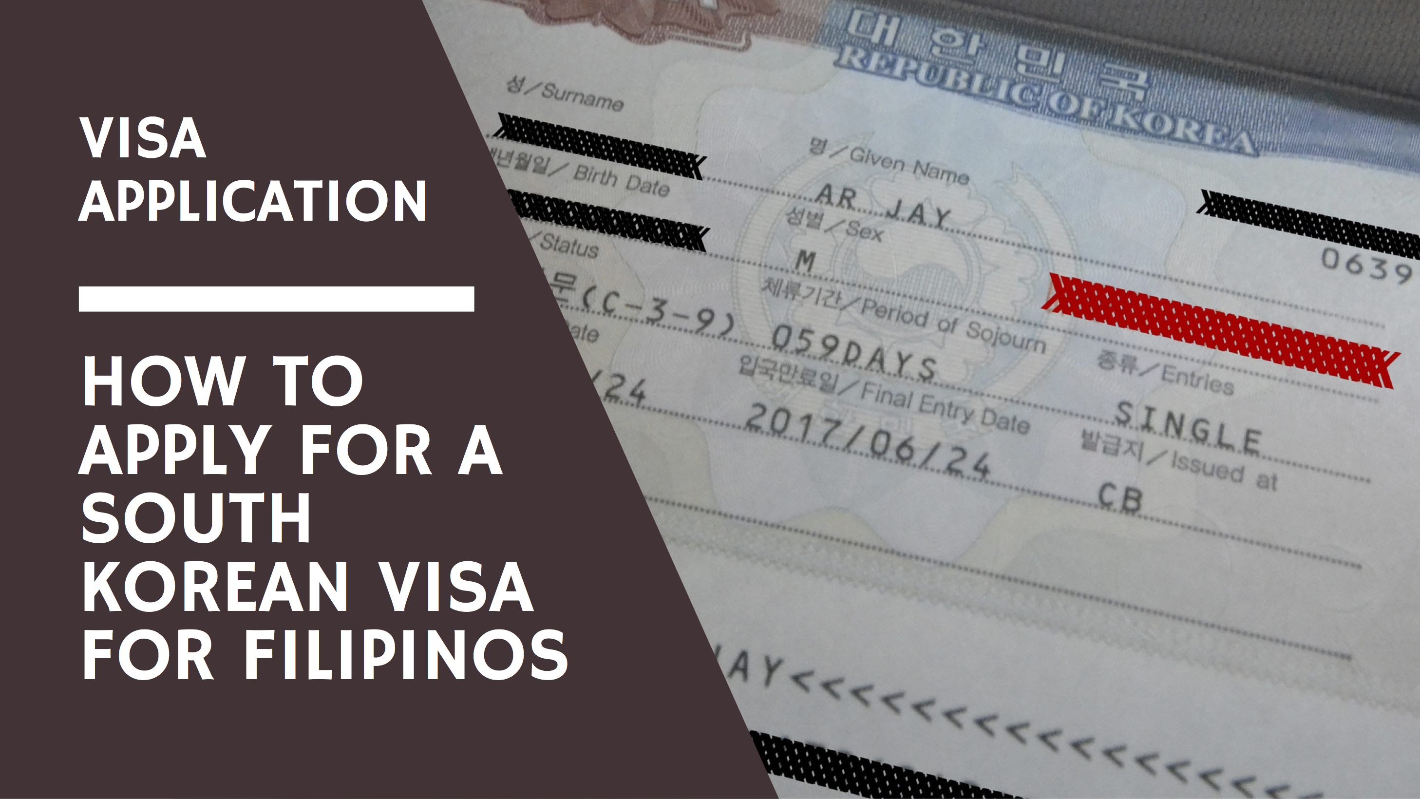 Visa Application How To Apply For A South Korean Visa For Filipino