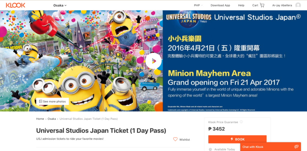 universal studios japan buy ticket klook