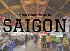 fun things to do in Saigon