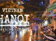 hanoi evening street eats