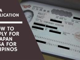 japan visa application for filipinos