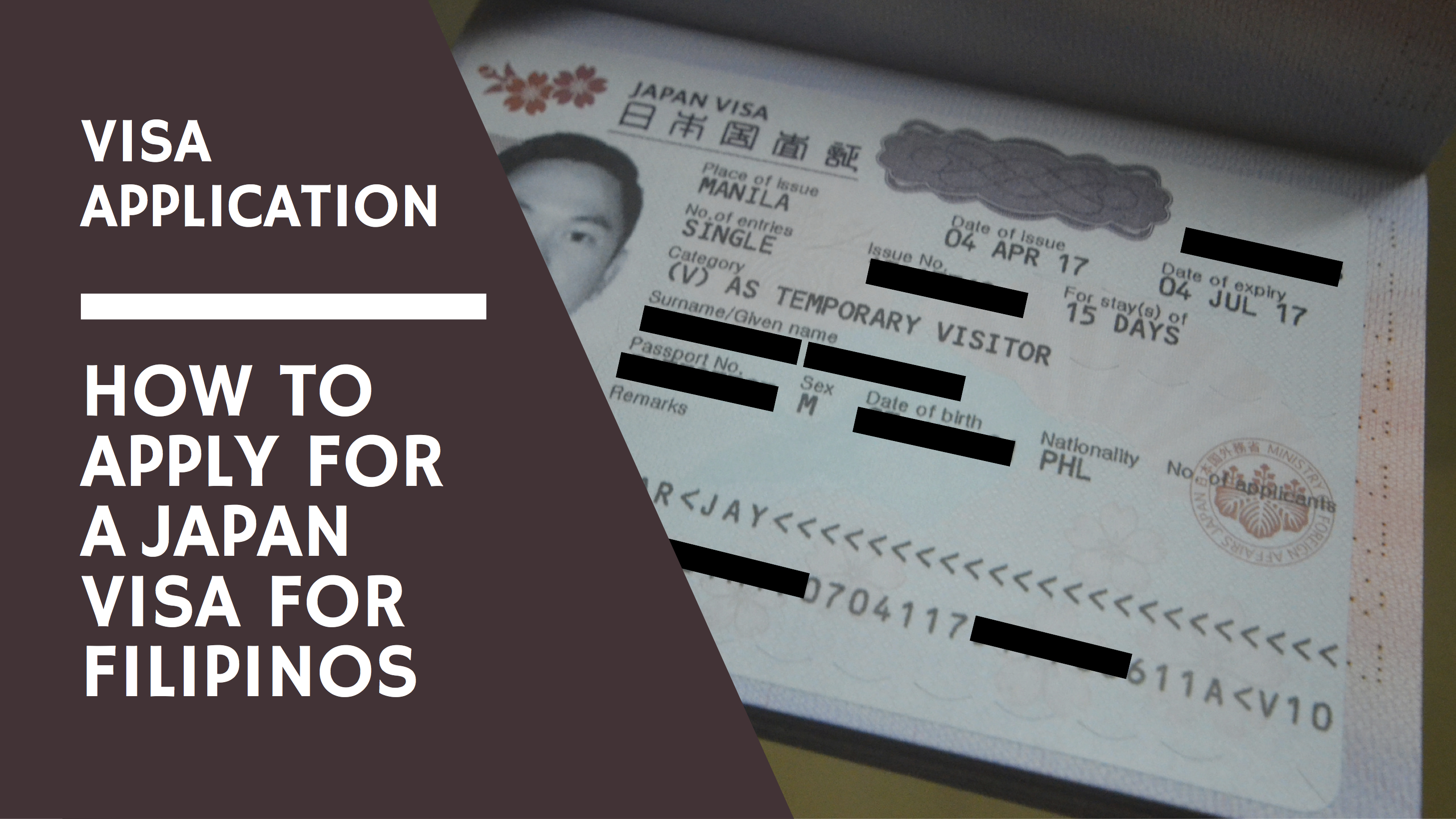 Visa Application How To Apply For A Japan Visa For Filipinos Iwander Iexperience Ikwento