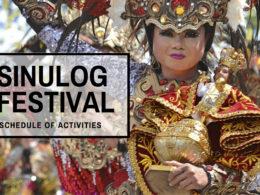 sinulog festival schedule of activities
