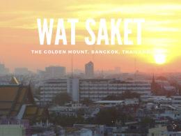 wat saket bangkok thailand