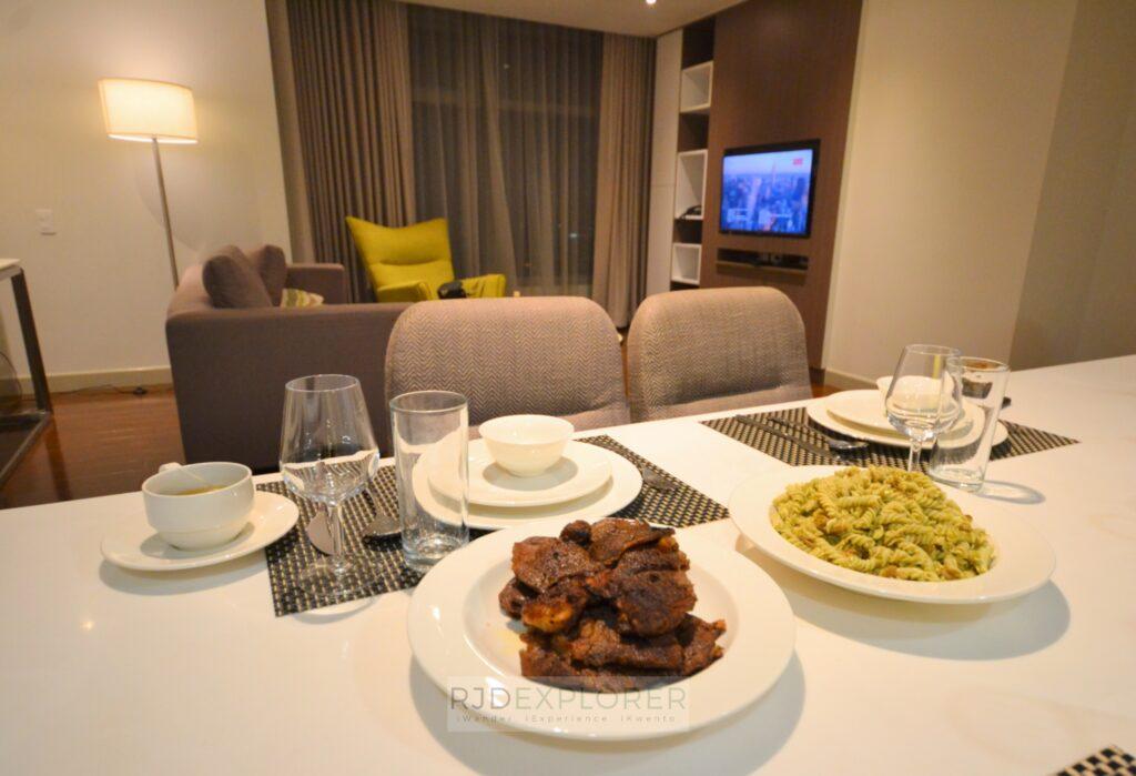 citadines millennium ortigas dinner steak and pasta
