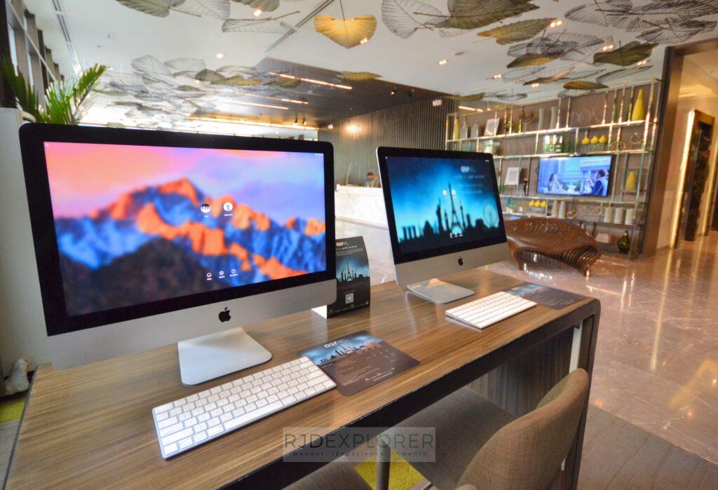 citadines millennium ortigas mac desktop on lobby