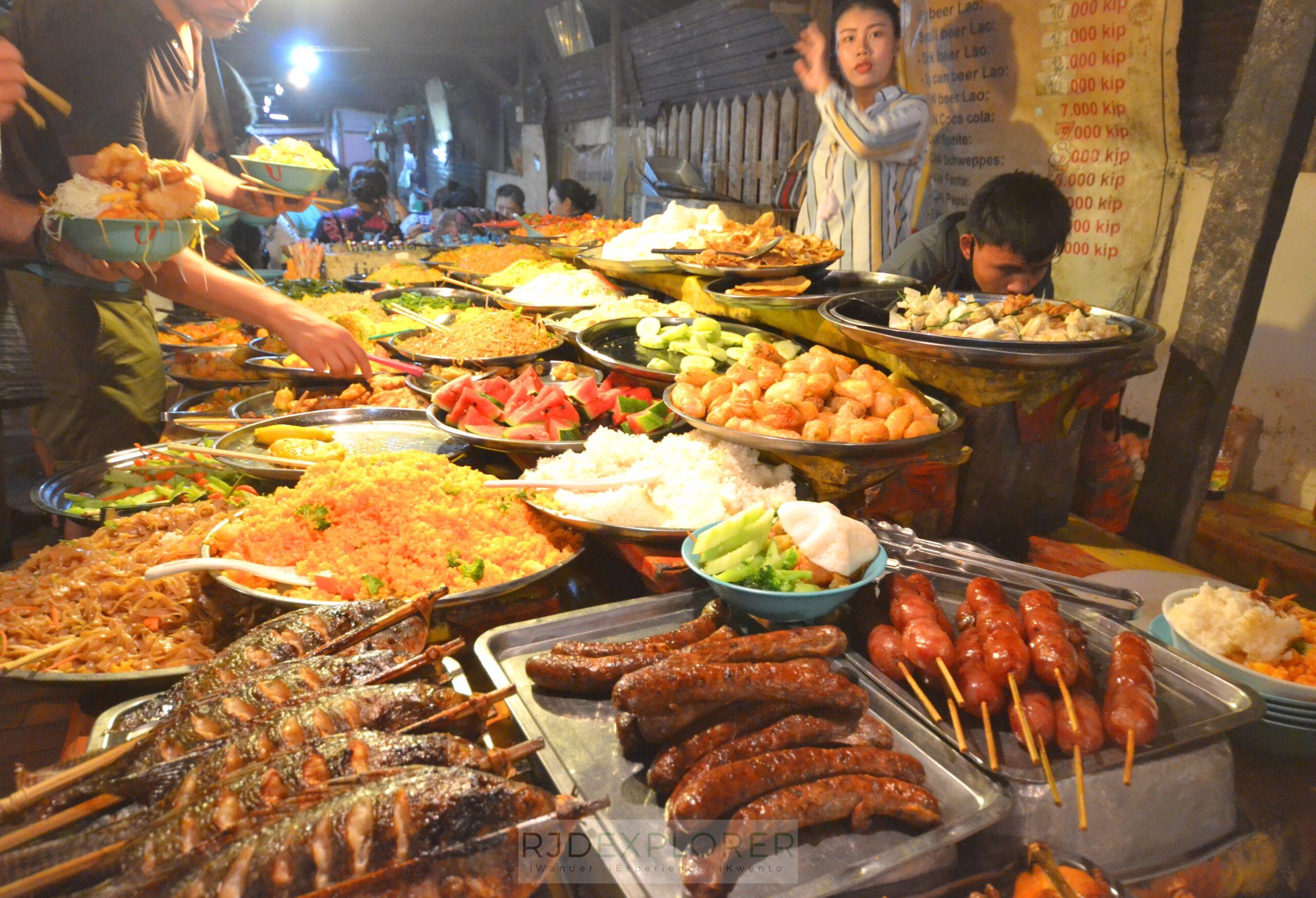 laos itinerary diy vegetable buffet luang prabang